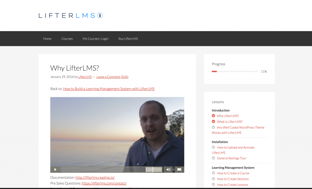 LifterLMS Lesson